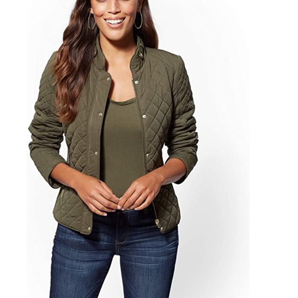New York & Company Jackets & Blazers - NWT New York & Company green quilted jacket